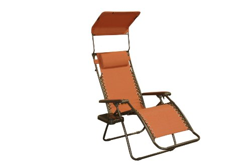 Bliss Gravity Free Folding Recliner with Sun Shade