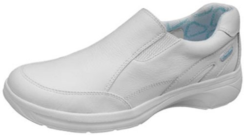 "8. Cherokee ""Mambo"" Womens Leather Slip On Nurses Shoe"