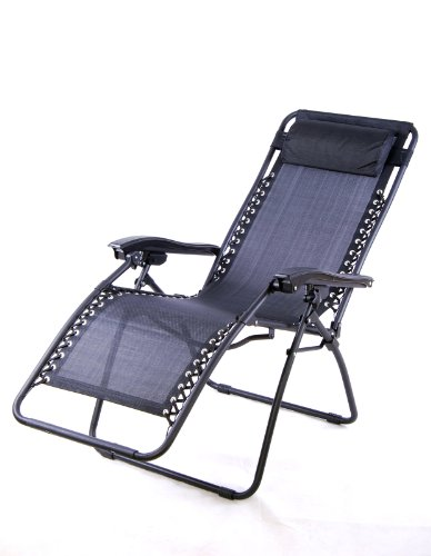 Outsunny Zero Gravity Recliner Patio Pool Chair