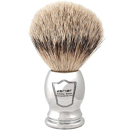 The Parker Safety Razor Silvertip Shaving Brush