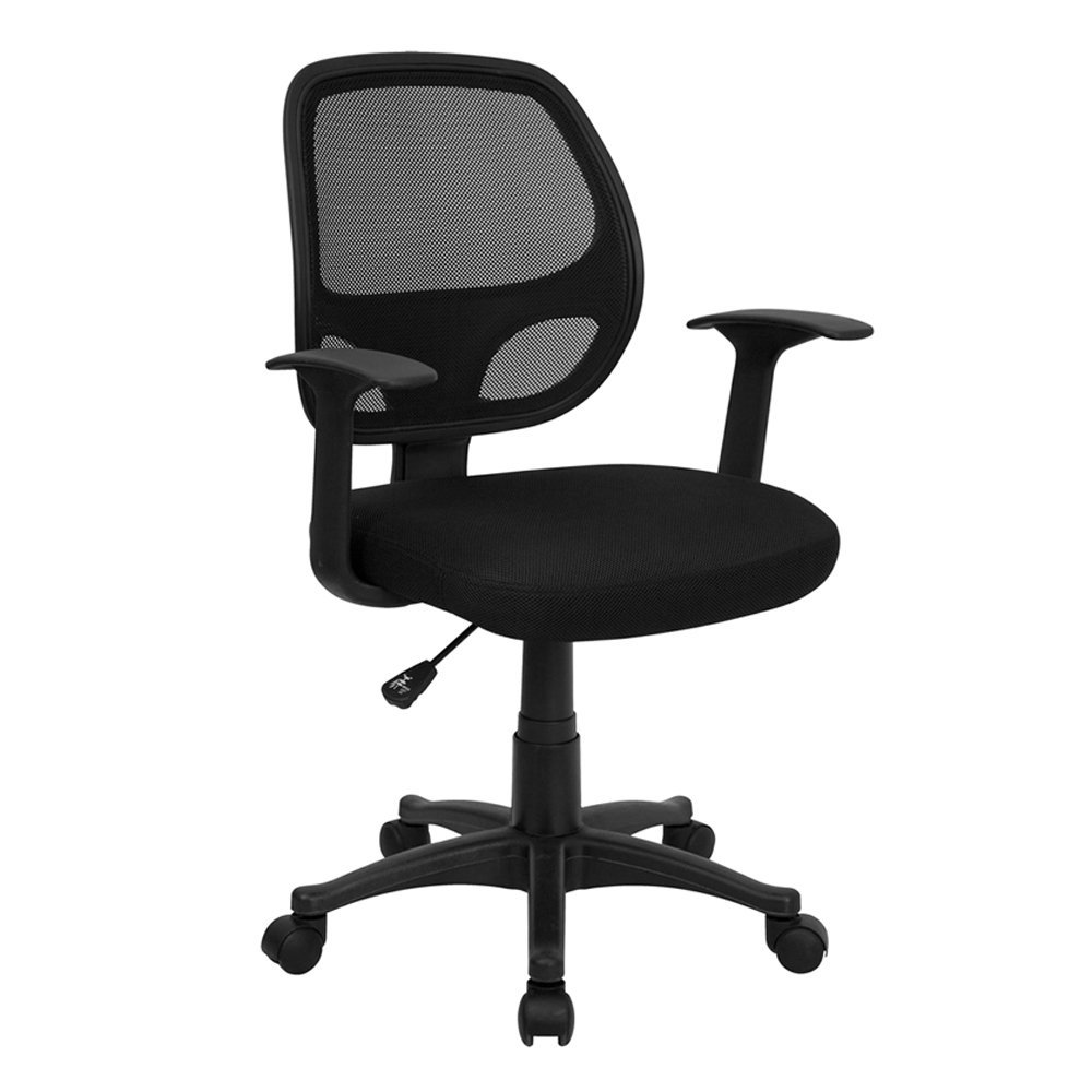adjustable pin chair computer ergonomic arms back and headrest longem office breathable high mesh