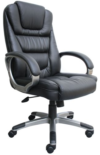 The Boss Black Leather Executive Chair